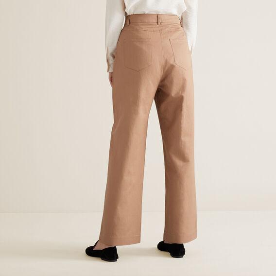 Wide Leg Pleat Pant  WALNUT  hi-res