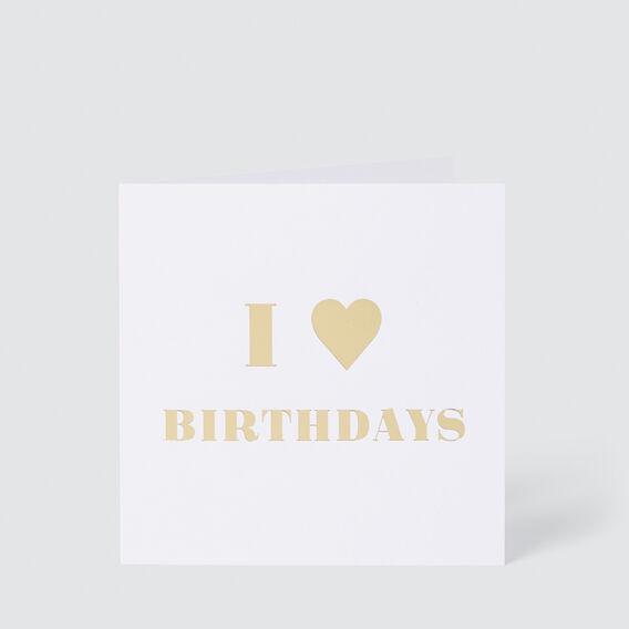 Large I Love Birthdays Card  MULTI  hi-res