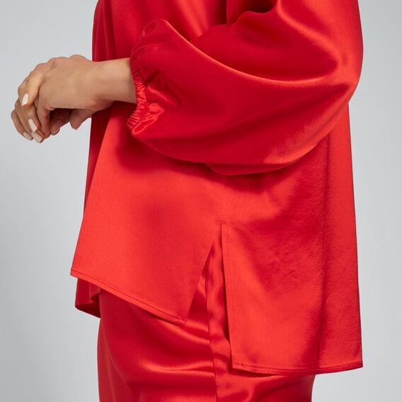 Blouson Sleeve Top  FIERY RED  hi-res