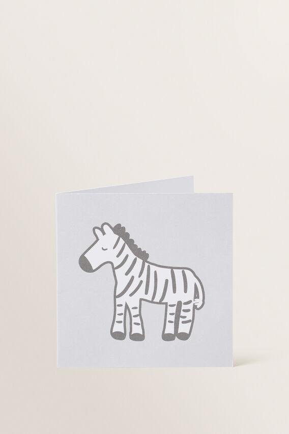 Small Zebra Card  MULTI  hi-res