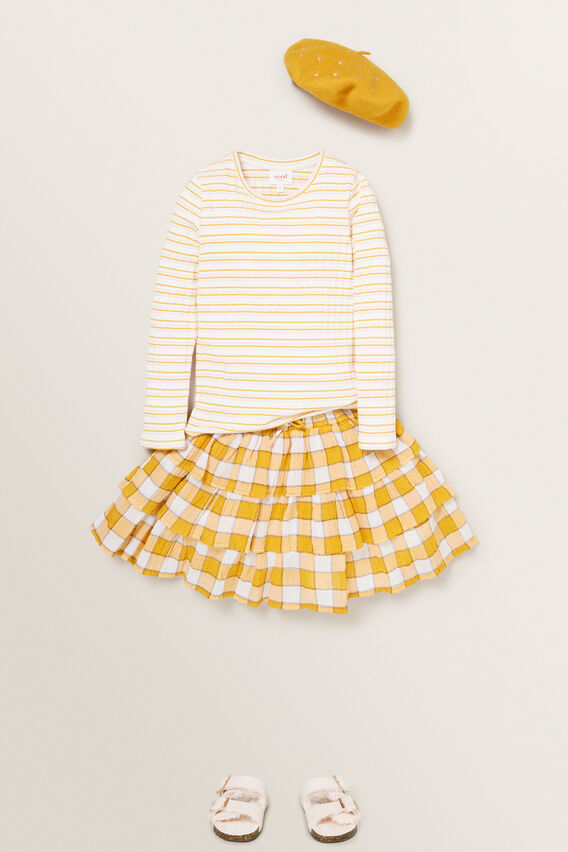 Gingham Rara Skirt  OCHRE  hi-res