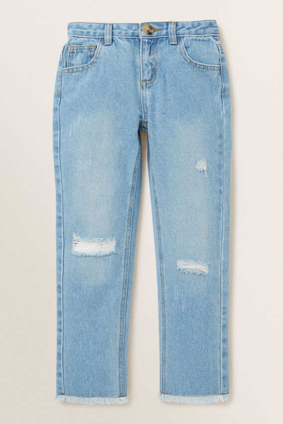 Relaxed Button Jeans  CLASSIC BLUE  hi-res