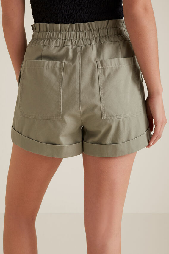Button Tab Short  SOFT KHAKI  hi-res