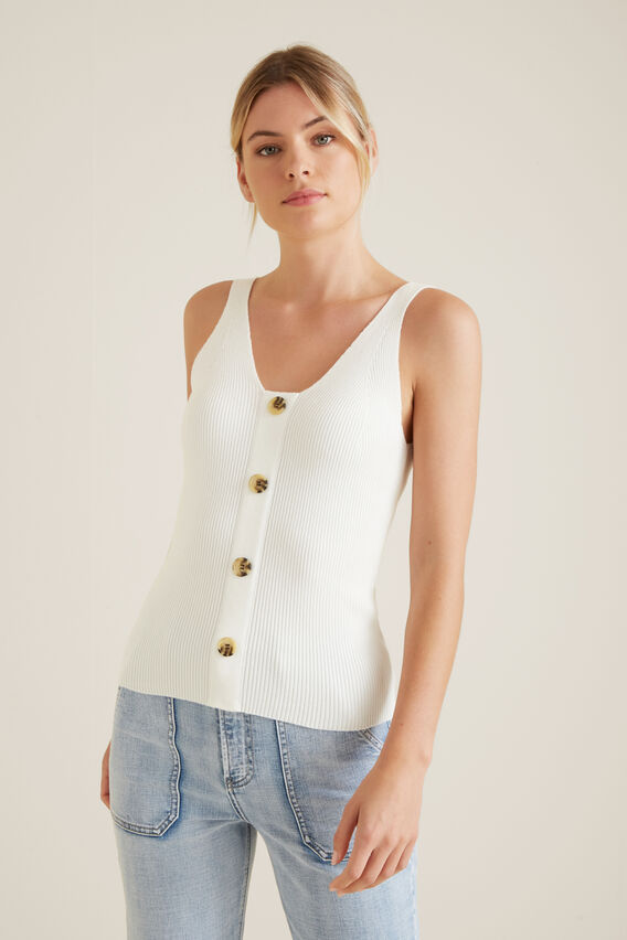 Button Down Top  CLOUD CREAM  hi-res