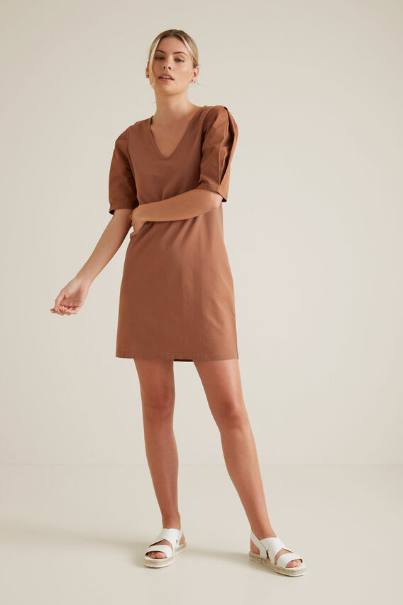 Mini Puff Sleeve Dress  RED DESERT  hi-res