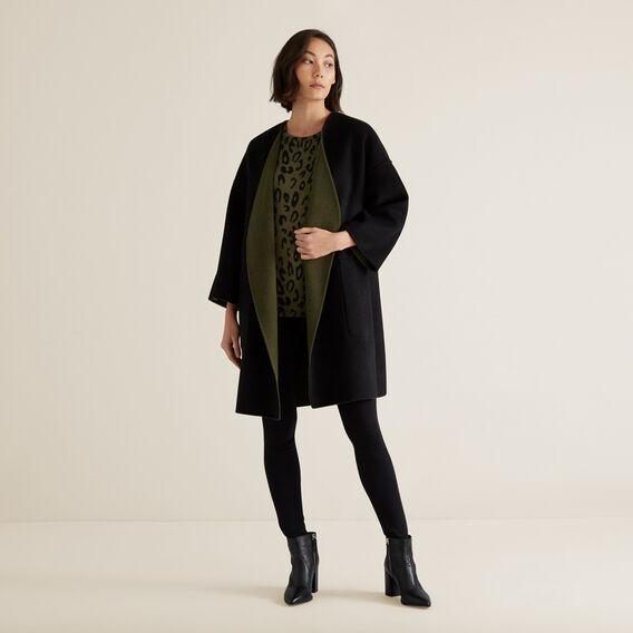 Reversible Coat  RICH OLIVE/BLACK  hi-res