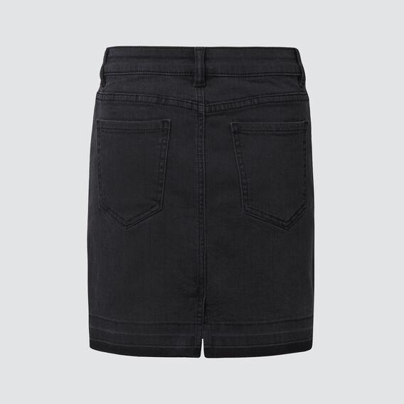 Turndown Denim Skirt  WASHED BLACK  hi-res
