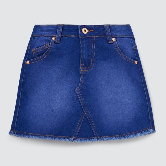 A-Line Denim Mini Skirt  BRIGHT INDIGO  hi-res