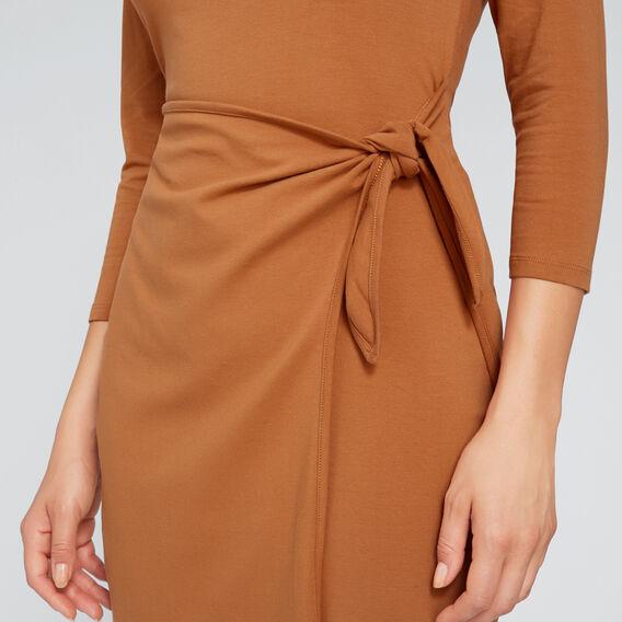 Wrap Tie Dress  VINTAGE BRONZE  hi-res
