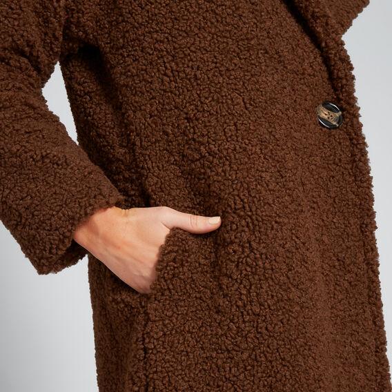 Longline Teddy Coat  BURNT TOFFEE  hi-res