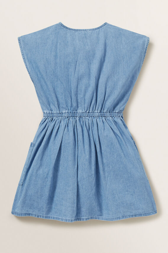 Chambray Dress  ICE BLUE WASH  hi-res