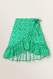 Daisy Wrap Skirt, APPLE GREEN, hi-res