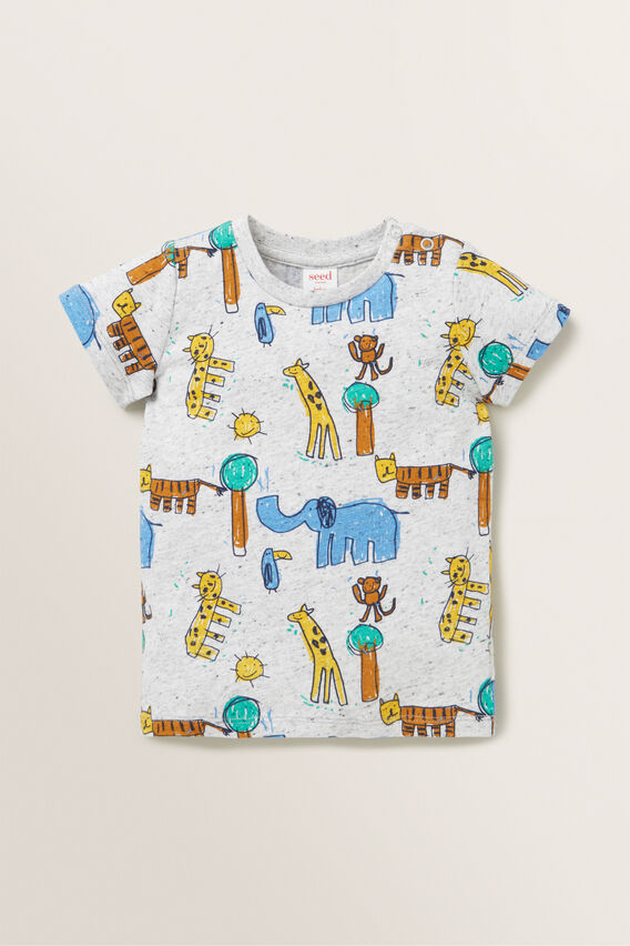 Animal Yardage Tee  CLOUDY MARLE  hi-res