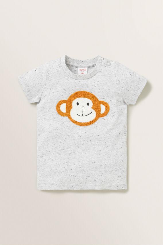 Monkey Tee  CLOUDY MARLE  hi-res