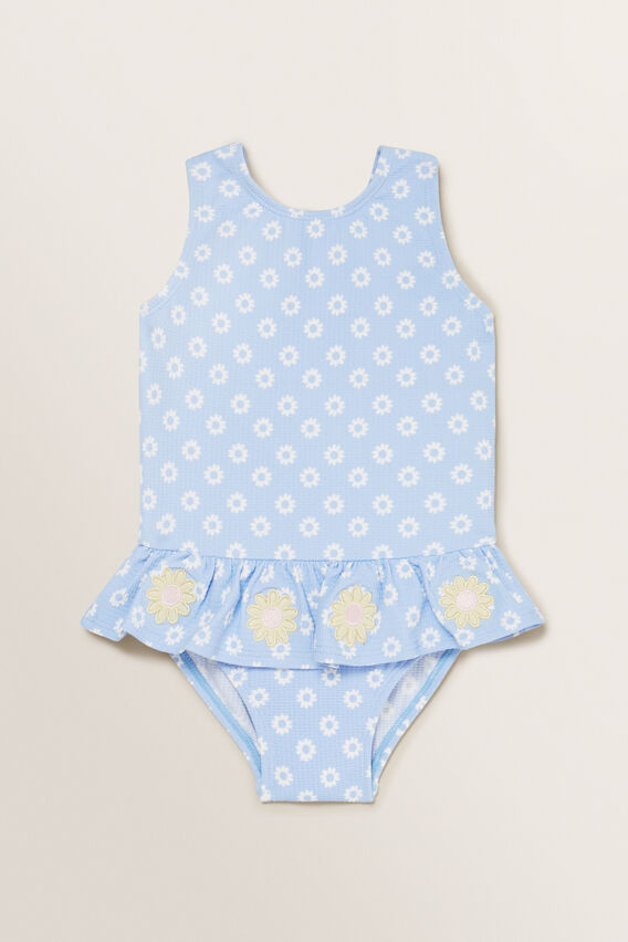 Flower Ditsy Bather  BLUEBELL  hi-res