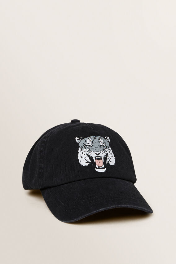 Tiger Cap  BLACK  hi-res