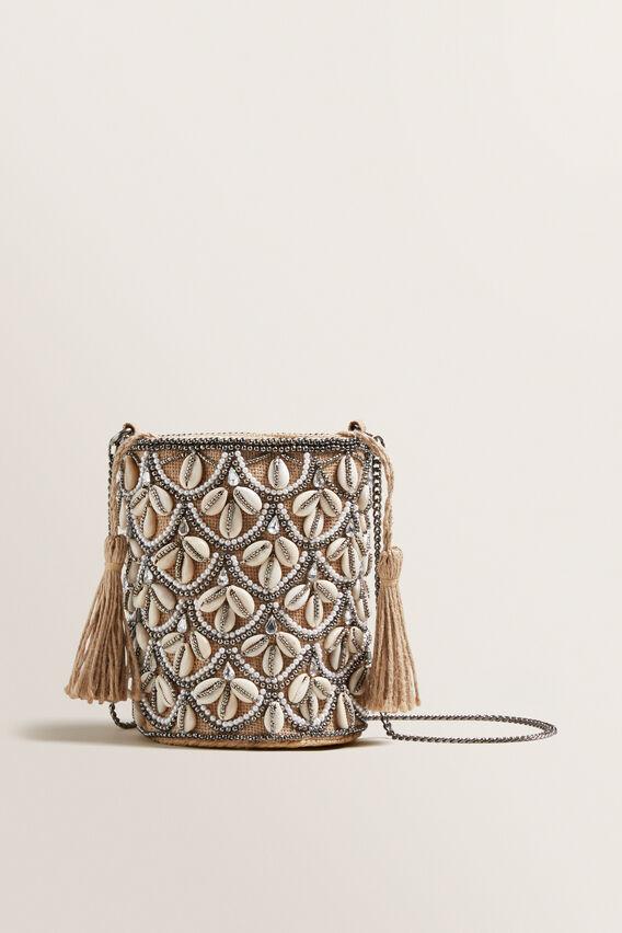 Shell Bucket Bag  NATURAL  hi-res