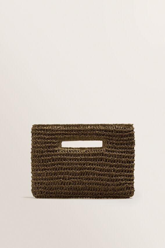 Weave Straw Clutch  RICH MOSS  hi-res