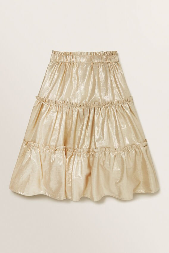 Metallic Skirt  GOLD  hi-res