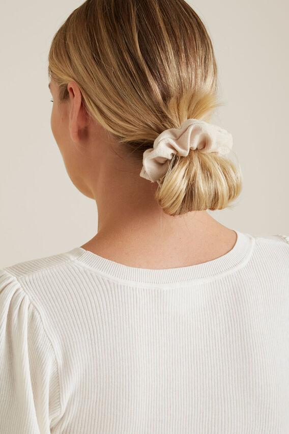 Linen Look Scrunchie  MULTI  hi-res