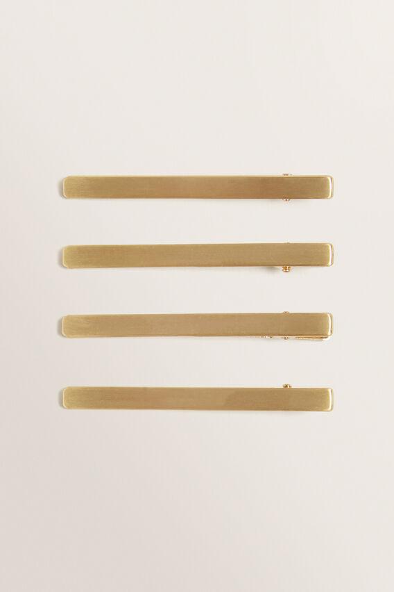 Metal Hair Slide Pack  GOLD  hi-res