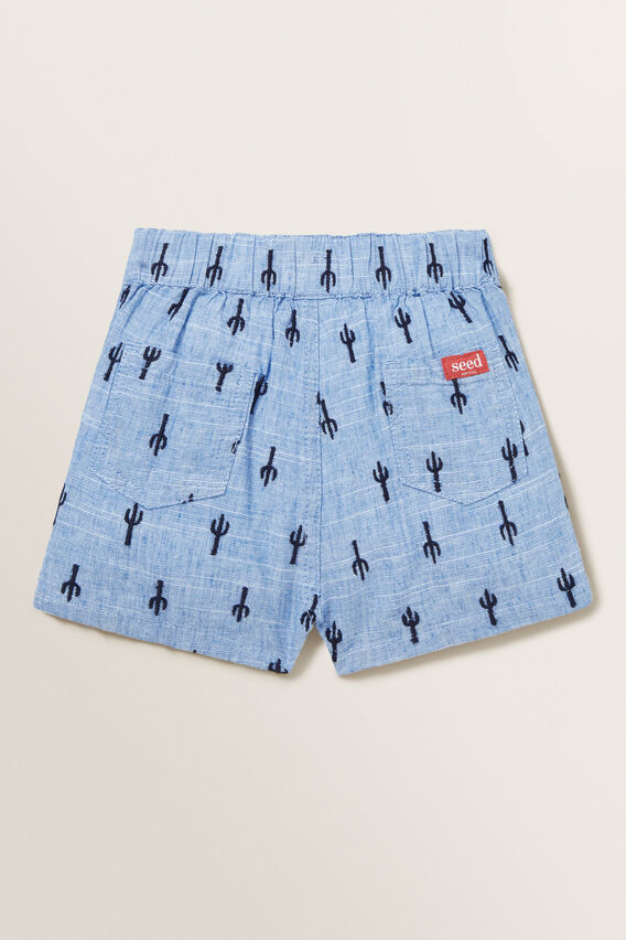 Cactus Embroidered Short  CORNFLOWER BLUE  hi-res