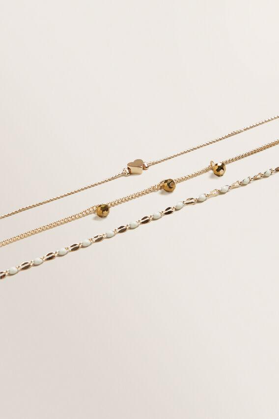 Heart Bracelet Pack  GOLD  hi-res