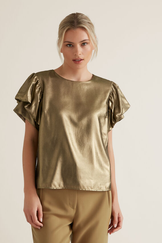 Gold Lame Top  GOLD  hi-res