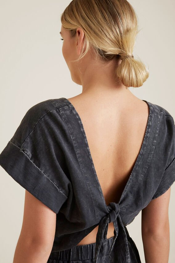 Washed Back Jumpsuit  WASHED BLACK  hi-res