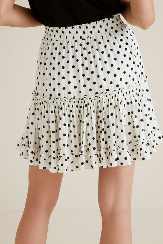 Crinkle Spot Mini Skirt  SPOT  hi-res