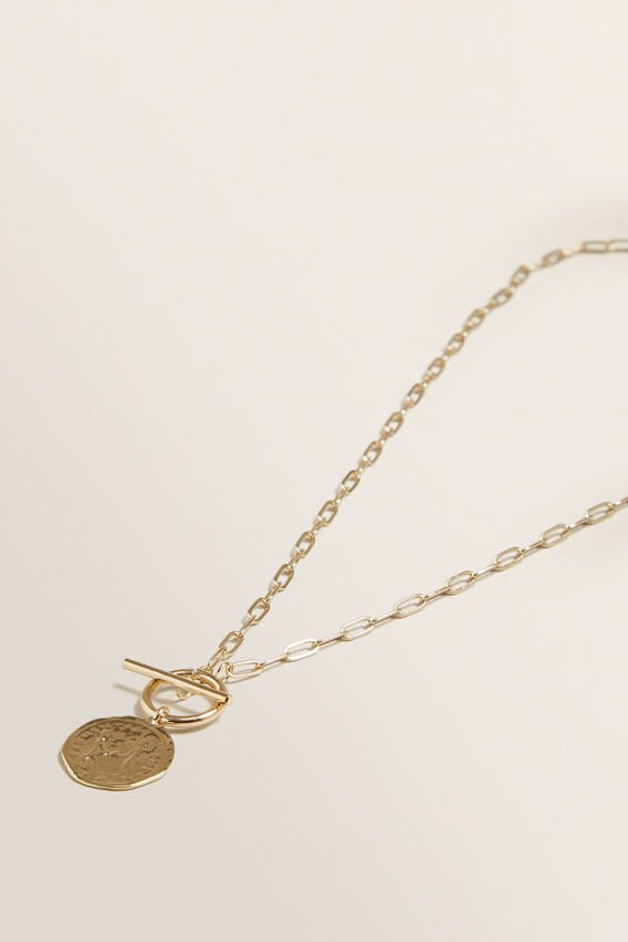 Coin Pendant Necklace  GOLD  hi-res