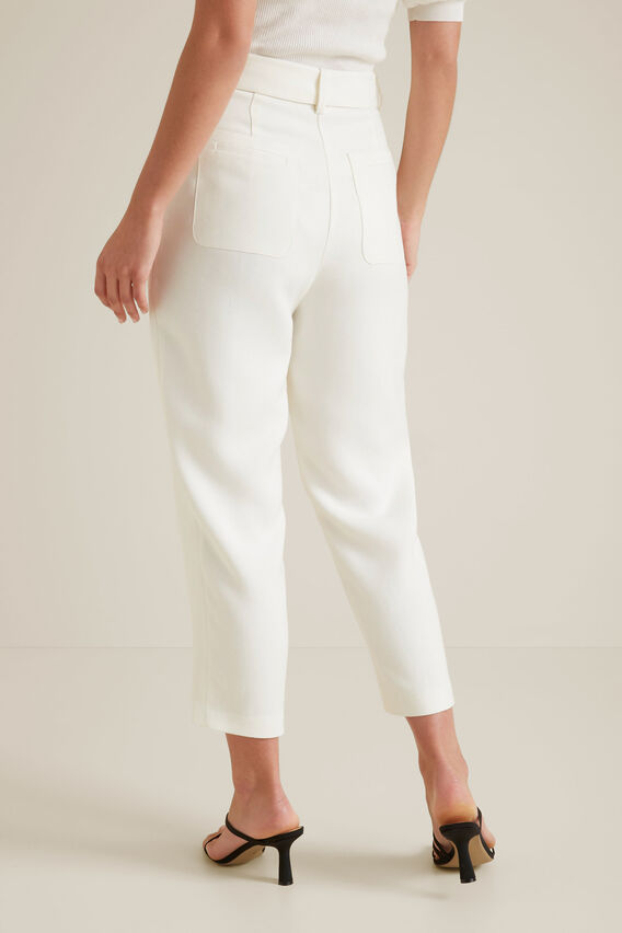 Belted Twill Trouser  CLOUD CREAM  hi-res