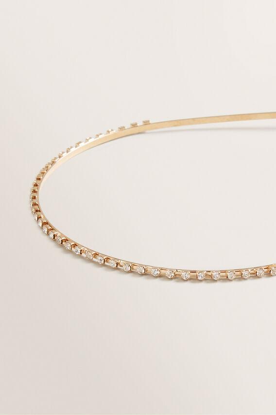 Small Stone Headband  GOLD  hi-res