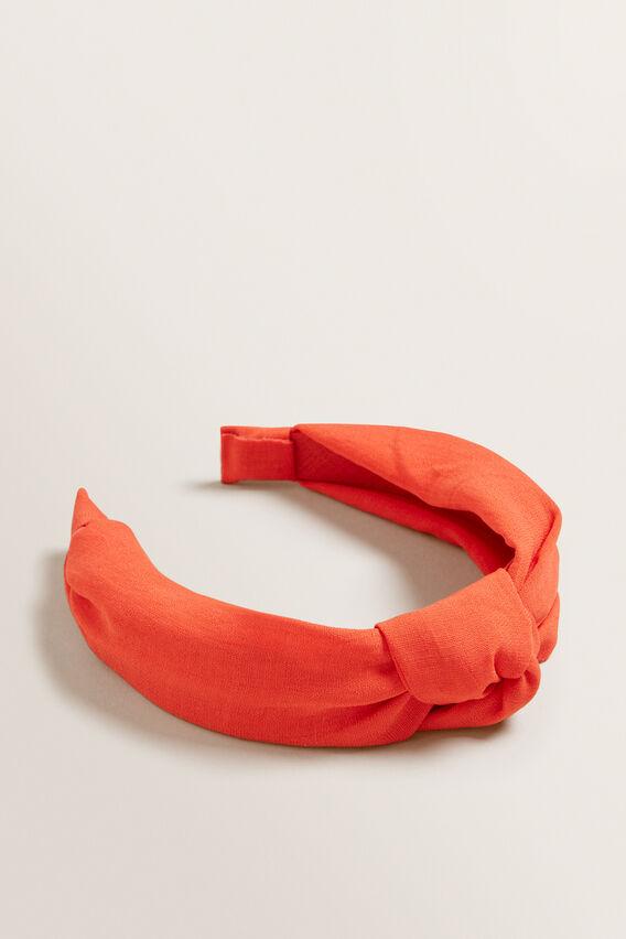 Knot Headband  BOLD POPPY  hi-res