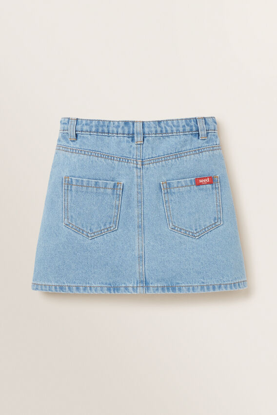 Button Denim Skirt  CLASSIC BLUE  hi-res