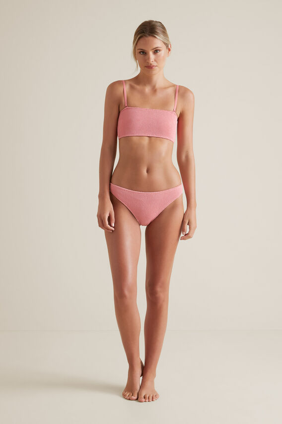Textured Bandeau Two Piece  WATERMELON PINK  hi-res