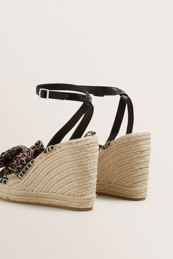 Bow Wedge Espadrille  OCELOT  hi-res
