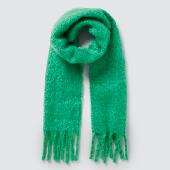 Cosy Fringe Scarf  APPLE GREEN  hi-res