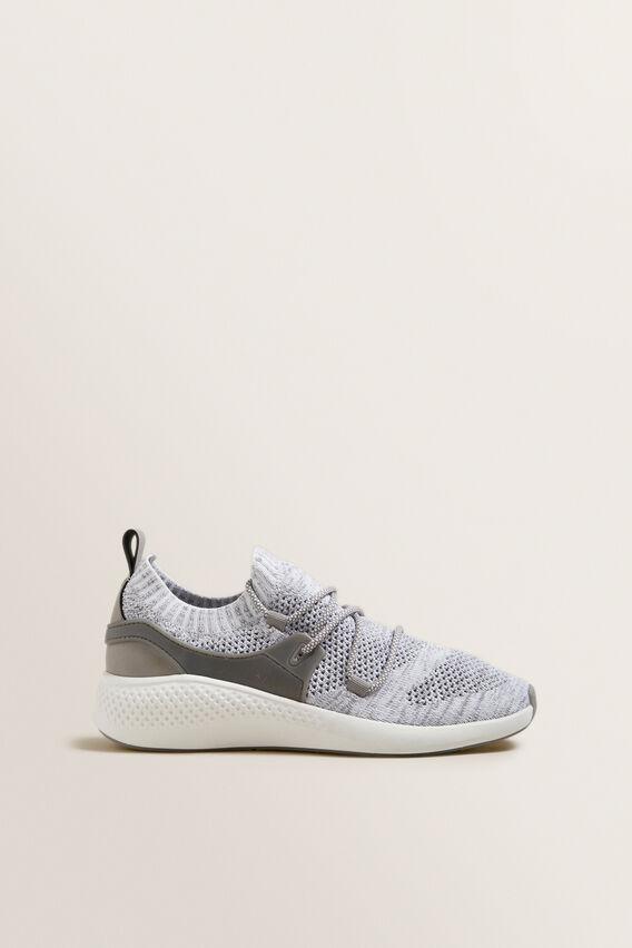 Jessie Knit Sneaker  GREY FLECK  hi-res