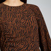 Textured Zebra Print Dress  ZEBRA PRINT  hi-res