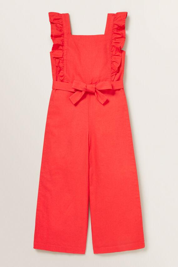 Frill Jumpsuit  APPLE RED  hi-res