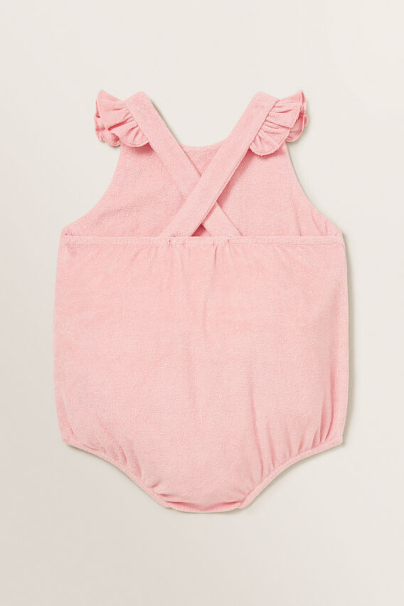 Frill Towelling Onesie  DUSTY PINK  hi-res