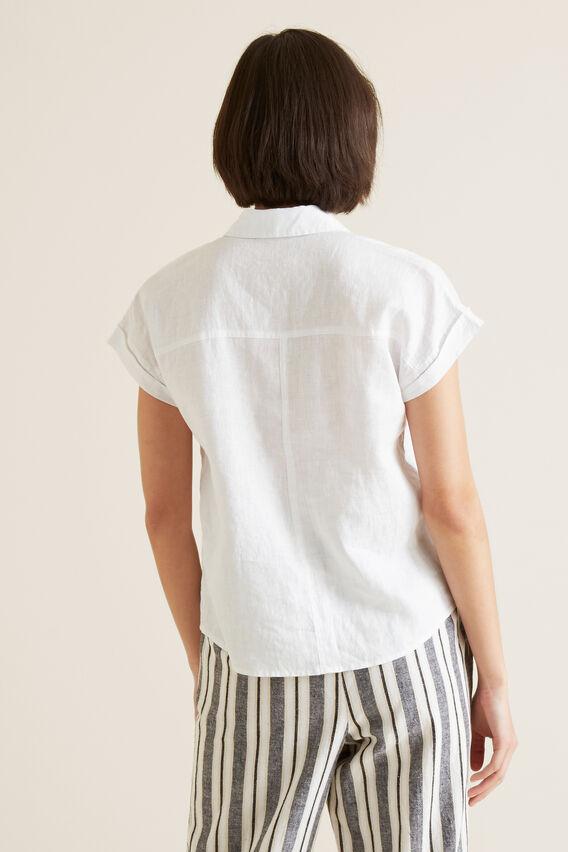 Short Sleeve Linen Shirt  WHISPER WHITE  hi-res