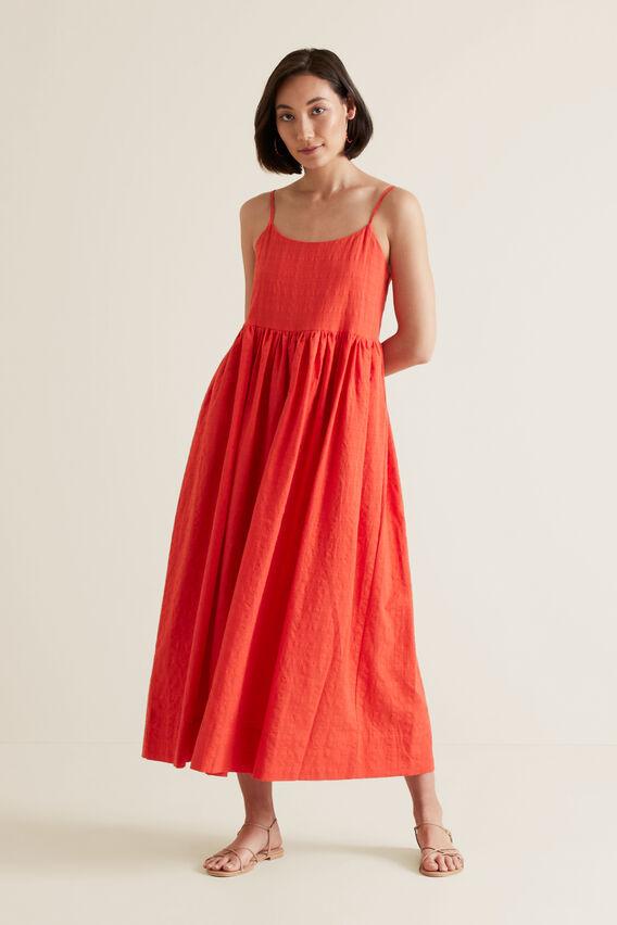 Self-Check Midi Dress  BOLD POPPY  hi-res