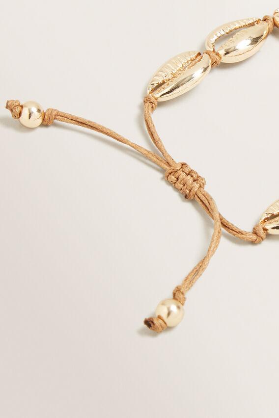 Adjustable Shell Bracelet  GOLD  hi-res