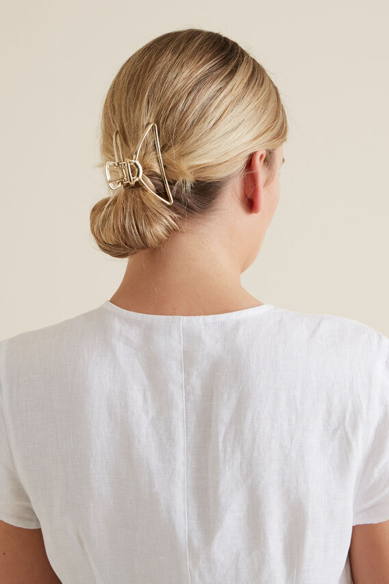 Shape Hair Claw  GOLD  hi-res