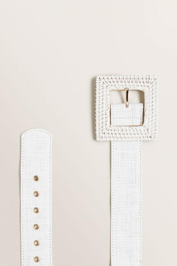 Rattan Belt  WHITE  hi-res