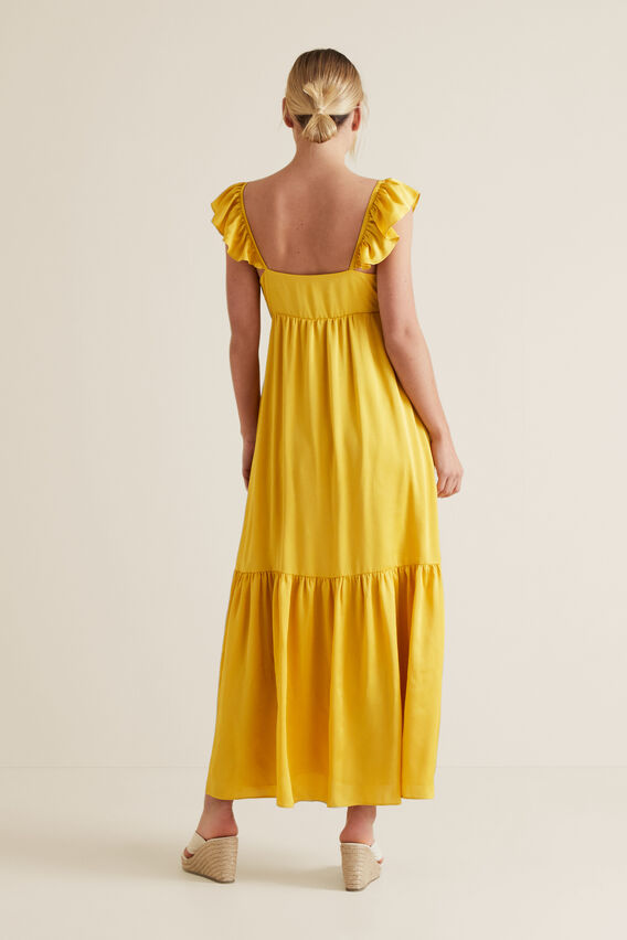 Frill Maxi Dress  GOLD RUSH  hi-res