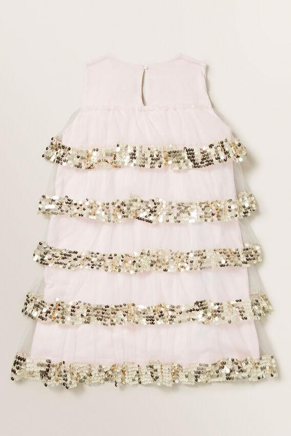 Tiered Sequin Dress  ICE PINK  hi-res