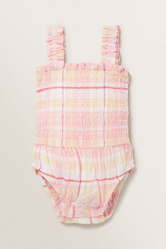Check Romper  MULTI  hi-res